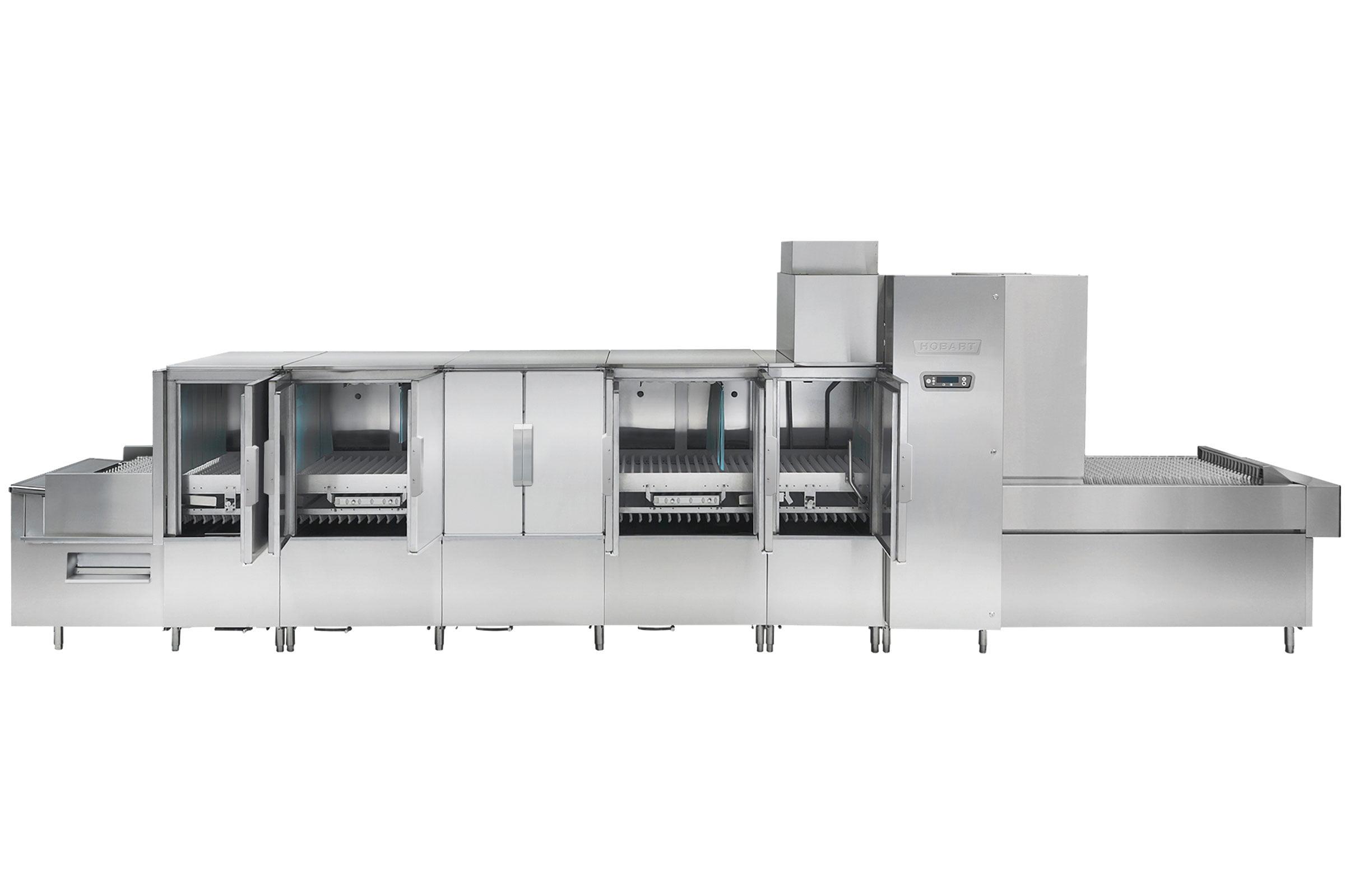 FT1000e Flight Type Commercial Dishwasher Open